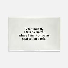 Dear Teacher Rectangle Magnet
