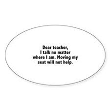 Dear Teacher Decal