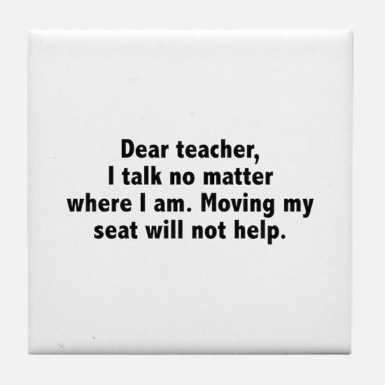 Dear Teacher Tile Coaster