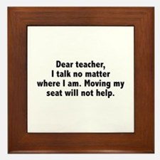 Dear Teacher Framed Tile