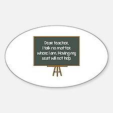 Dear Teacher Sticker (Oval)
