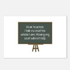 Dear Teacher Postcards (Package of 8)