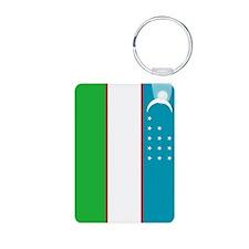 Uzbekistan Flag Keychains