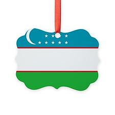 Uzbekistan Flag Ornament