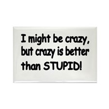 I might be crazy, but crazy is better than STUPID