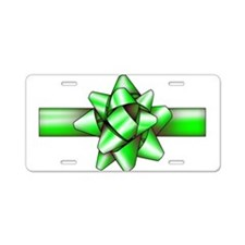 Green Bow Aluminum License Plate