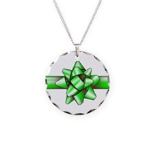 Green Bow Necklace
