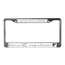 Caution - Mastiff License Plate Frame