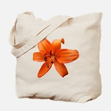 Orange Lilly Tote Bag