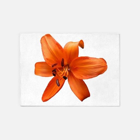 Orange Lilly 5'x7'Area Rug