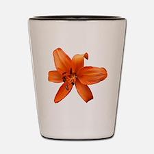 Orange Lilly Shot Glass