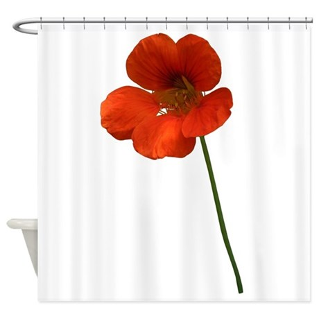 Orange Flower Shower Curtain By NaturesLittleTreasures
