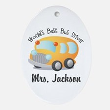 Personalized Bus Driver Ornament (Oval)