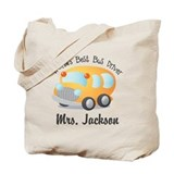 School bus Canvas Bags