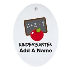 Personalized Kindergarten Ornament (Oval)