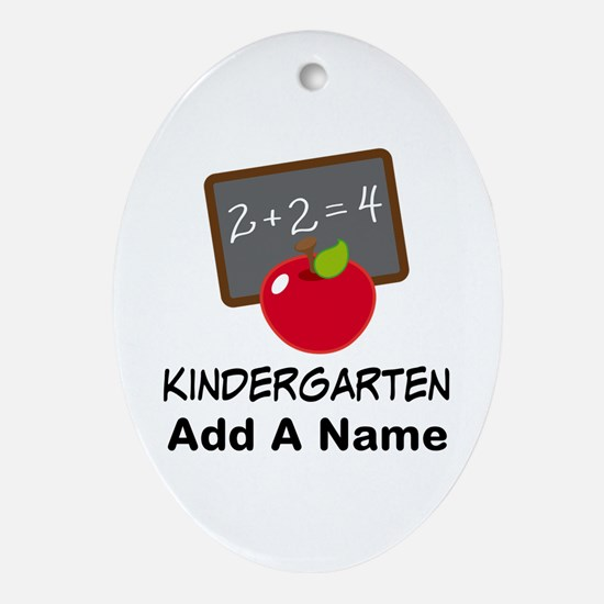 Personalized Kindergarten Ornament (Oval)