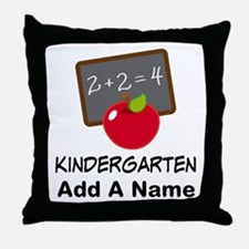 Personalized Kindergarten Throw Pillow
