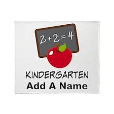 Personalized Kindergarten Throw Blanket