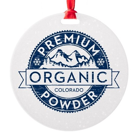 Colorado Powder Round Ornament