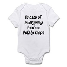 Feed me Potato Chips Infant Bodysuit