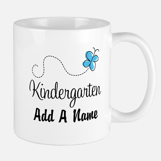 Personalized Kindergarten butterfly Mugs