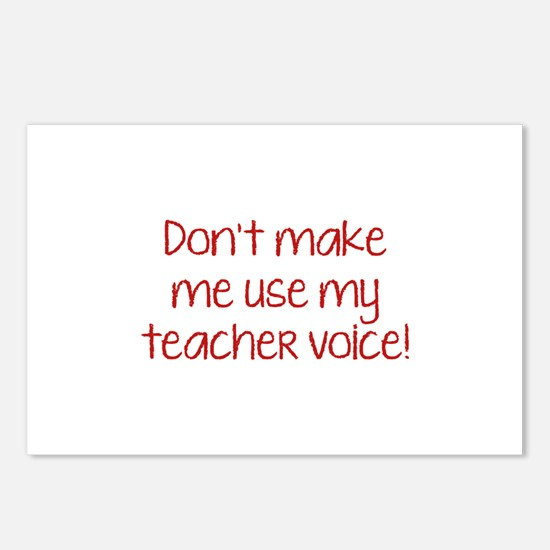 Don't Make Me Use My Teacher Voice! Postcards (Pac