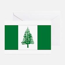 Norfolk Island flag Greeting Cards (Pk of 10)