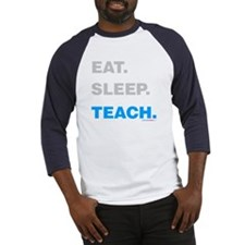 Eat Sleep Teach Baseball Jersey