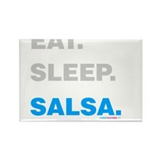 Eat Sleep Salsa Rectangle Magnet