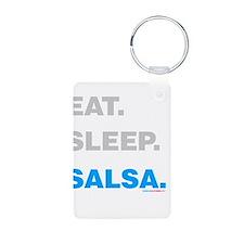 Eat Sleep Salsa Aluminum Photo Keychain