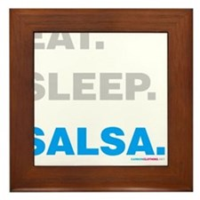 Eat Sleep Salsa Framed Tile