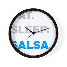 Eat Sleep Salsa Wall Clock