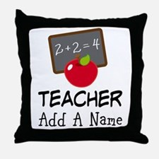 Personalized Teacher Gift Throw Pillow