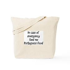Feed me Portuguese Food Tote Bag