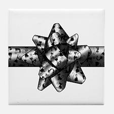 Cat Bow Tile Coaster