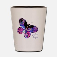 Peace Butterfly Shot Glass
