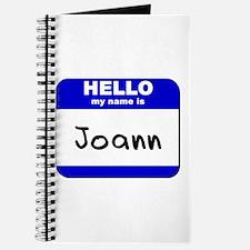 hello my name is joann Journal