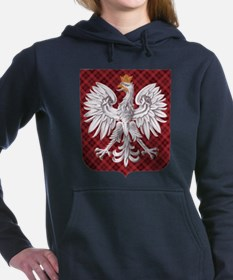 Polish Eagle Plaid Crest.png Hooded Sweatshirt