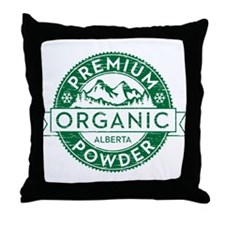 Alberta Powder Throw Pillow