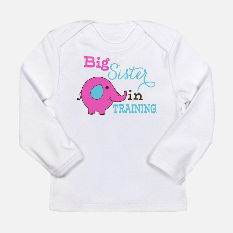 Big Sister in Training Elephant Long Sleeve T-Shir