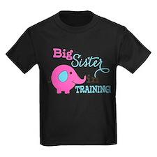 Big Sister in Training Elephant T-Shirt