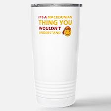 Macedonian smiley designs Travel Mug