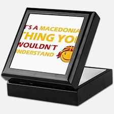 Macedonian smiley designs Keepsake Box