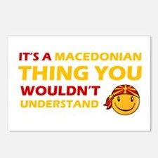 Macedonian smiley designs Postcards (Package of 8)