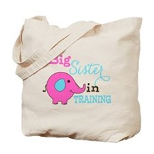 Big Sister in Training Elephant Tote Bag