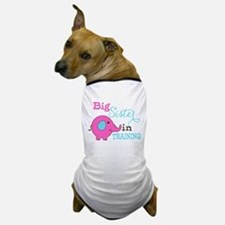 Big Sister in Training Elephant Dog T-Shirt