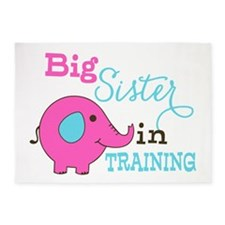 Big Sister in Training Elephant 5'x7'Area Rug