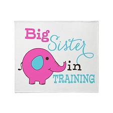 Big Sister in Training Elephant Throw Blanket