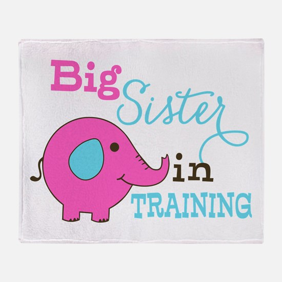 Big Sister in Training Elephant Throw Blanket