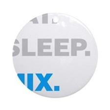 Eat Sleep Mix Ornament (Round)
